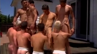 Hot big cocks gay orgy