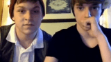 Two teen Aussie boys showing off on Omegle