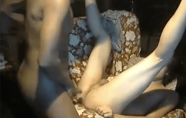 Black guy fucking white boy and sucking the cum out of his cock