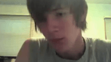 Hot emo boy jerking off and cumming on Omegle