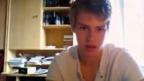 Blond cutie teen boy wanking on webcam