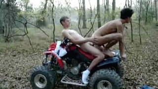 Young gay boys fucking in the woods on ATV