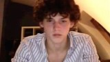 Cute curly haired Belgian twink wanks and cums