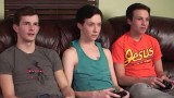 Playstation twinks end up fucking in threesome