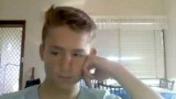 18yo twink wanks and cums in front of the webcam