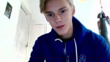Blond cam boy cums in his mouth and eats it on webcam