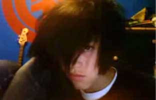 Emo cam boy has a wank and plays with his hole